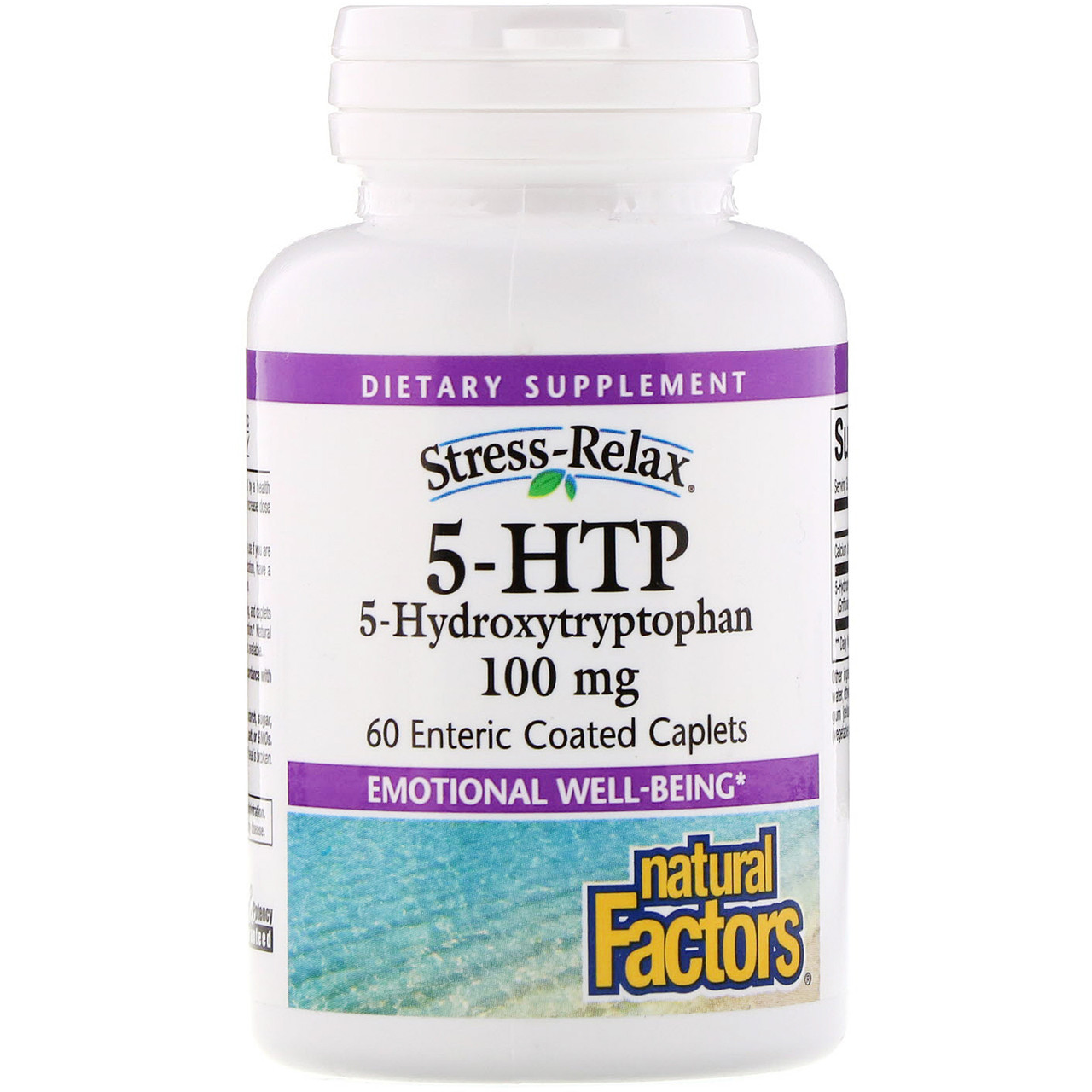 5-НТР стресс релакс (Stress-Relax), Natural Factors, 100 мг, 60 кап.
