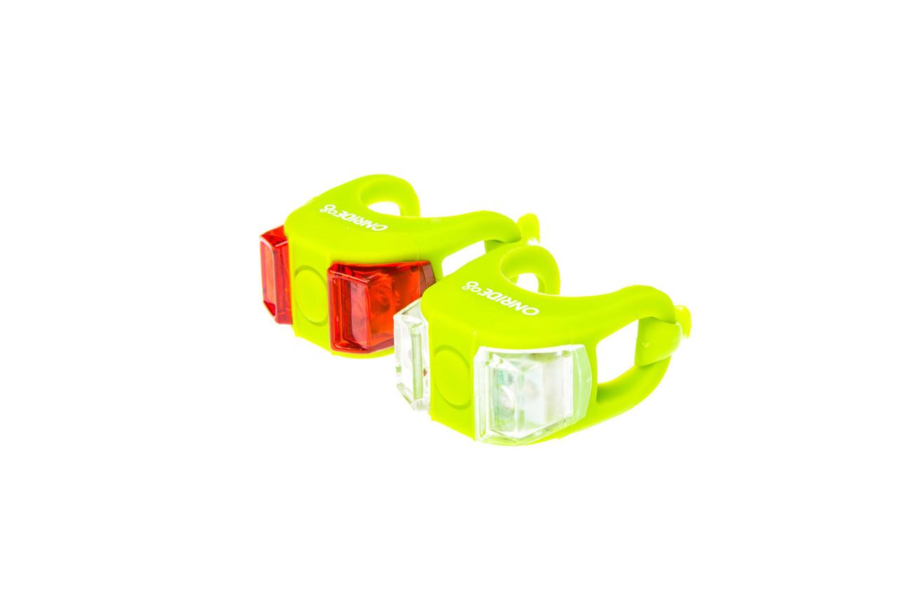 Комплект мигалок передняя и задняя Onride Dual Green