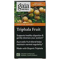 Трифала (Triphala Fruit), Gaia Herbs, 60 капсул