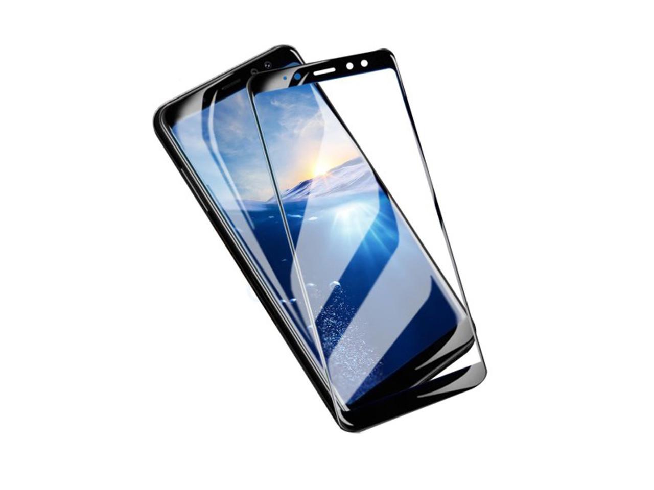 Защитное 5D cтекло Nano Flexible GLASS ITOP для Samsung Galaxy A8 Plus 2018 Full Cover Черный