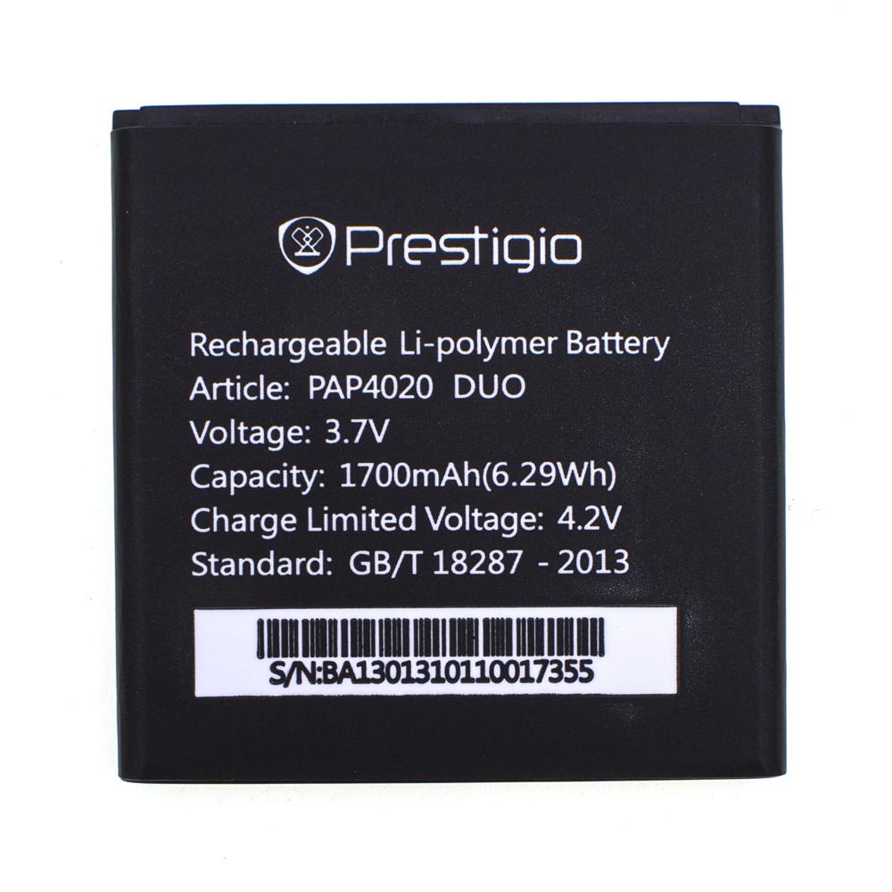 Акумулятор PAP4020 для Prestigio 3050 MultiPhone PAP Duo 1700 mAh (01877-2)