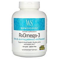 Женская смесь Омега кислот, RxOmega-3, Natural Factors, 120 капсул