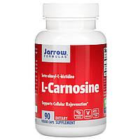 L-карнозин, Jarrow Formulas, 500 мг, 90 капсул.
