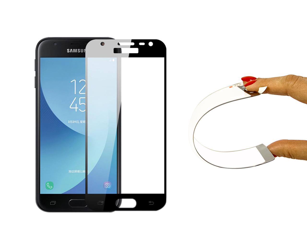 Защитное 5D cтекло Nano Flexible GLASS ITOP для Samsung Galaxy J5 2017 Full Cover Черный