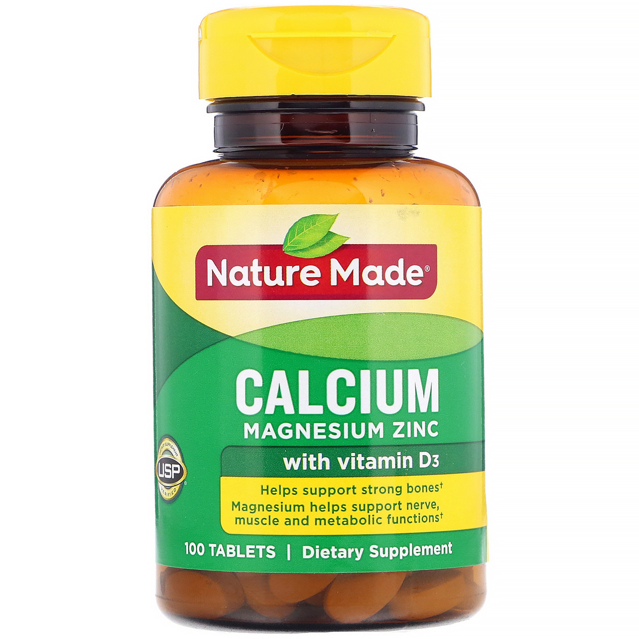 Кальцій-Магній-Цинк, 100 таблеток, Nature Made, Calcium Magnesium Zinc