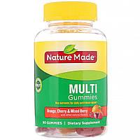 Мультивитамины для взрослых, Nature Made, 90 конфет