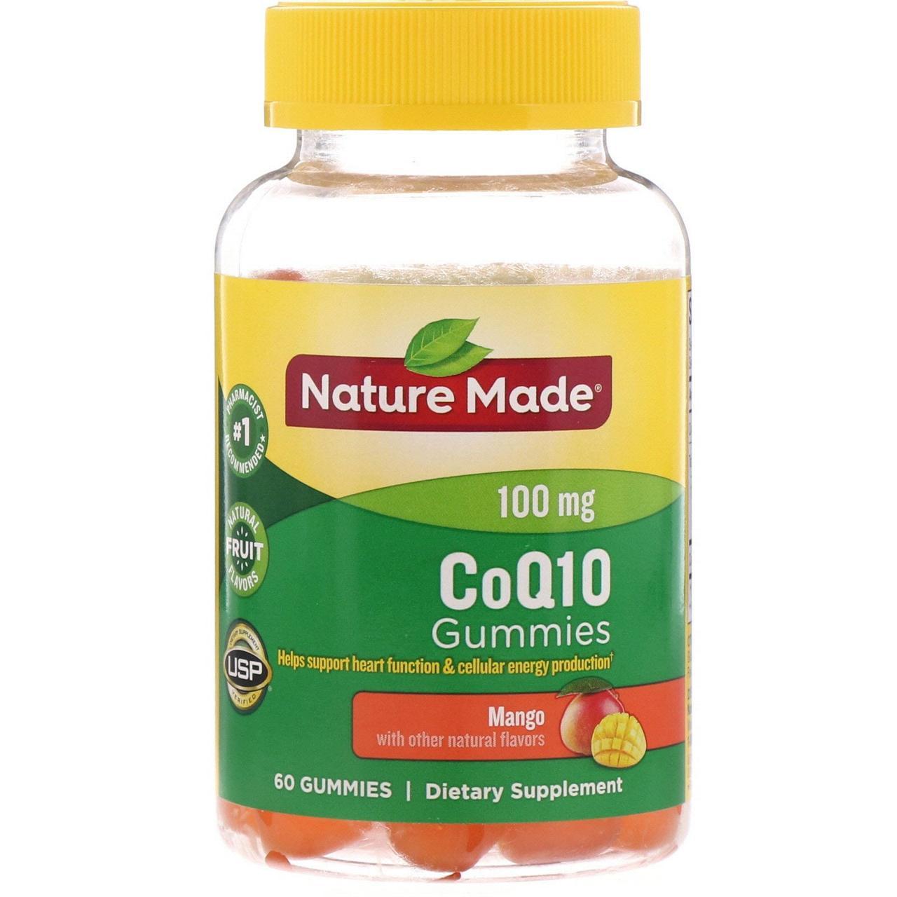 Поддержка сердца, CoQ10, Nature Made, манго, 60 таб.