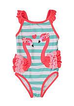 Детский цельный купальник для девочки с фламинго 80/98 см Minoti