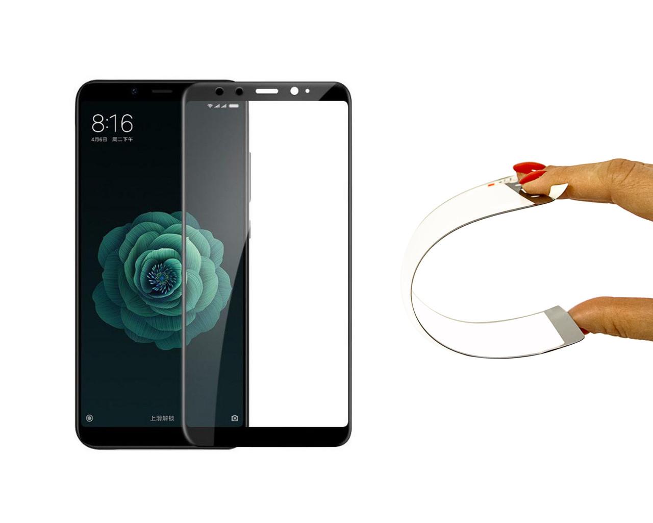 Защитное 5D cтекло Nano Flexible GLASS ITOP для Xiaomi Mi A2 Full Cover Черный