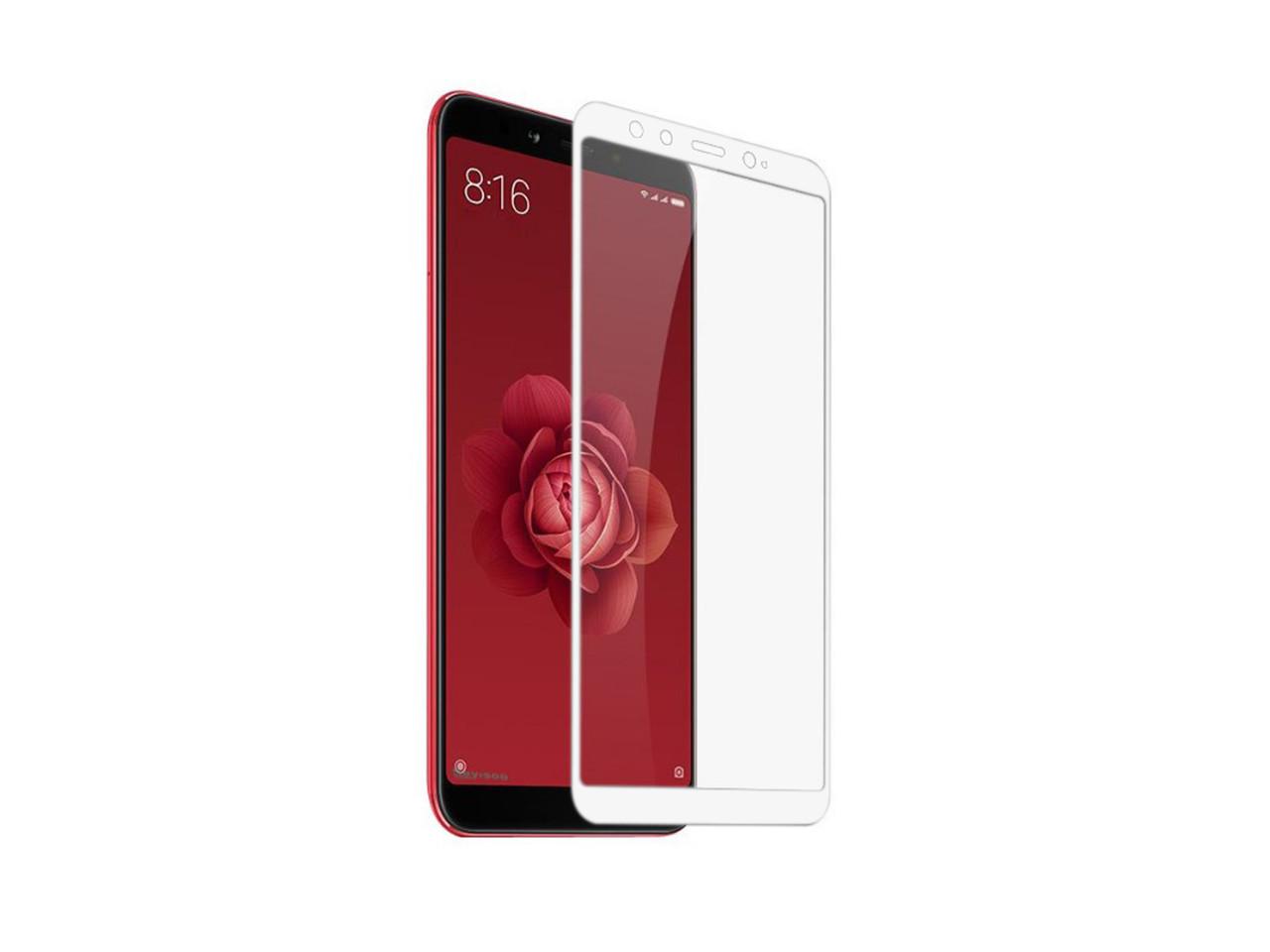 Захисне 5D скло Nano Flexible GLASS ITOP для Xiaomi Mi A2 Full Cover Білий