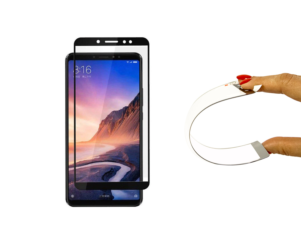 Захисне 5D скло Nano Flexible GLASS ITOP для Xiaomi Mi Max 3 Full Cover Чорний