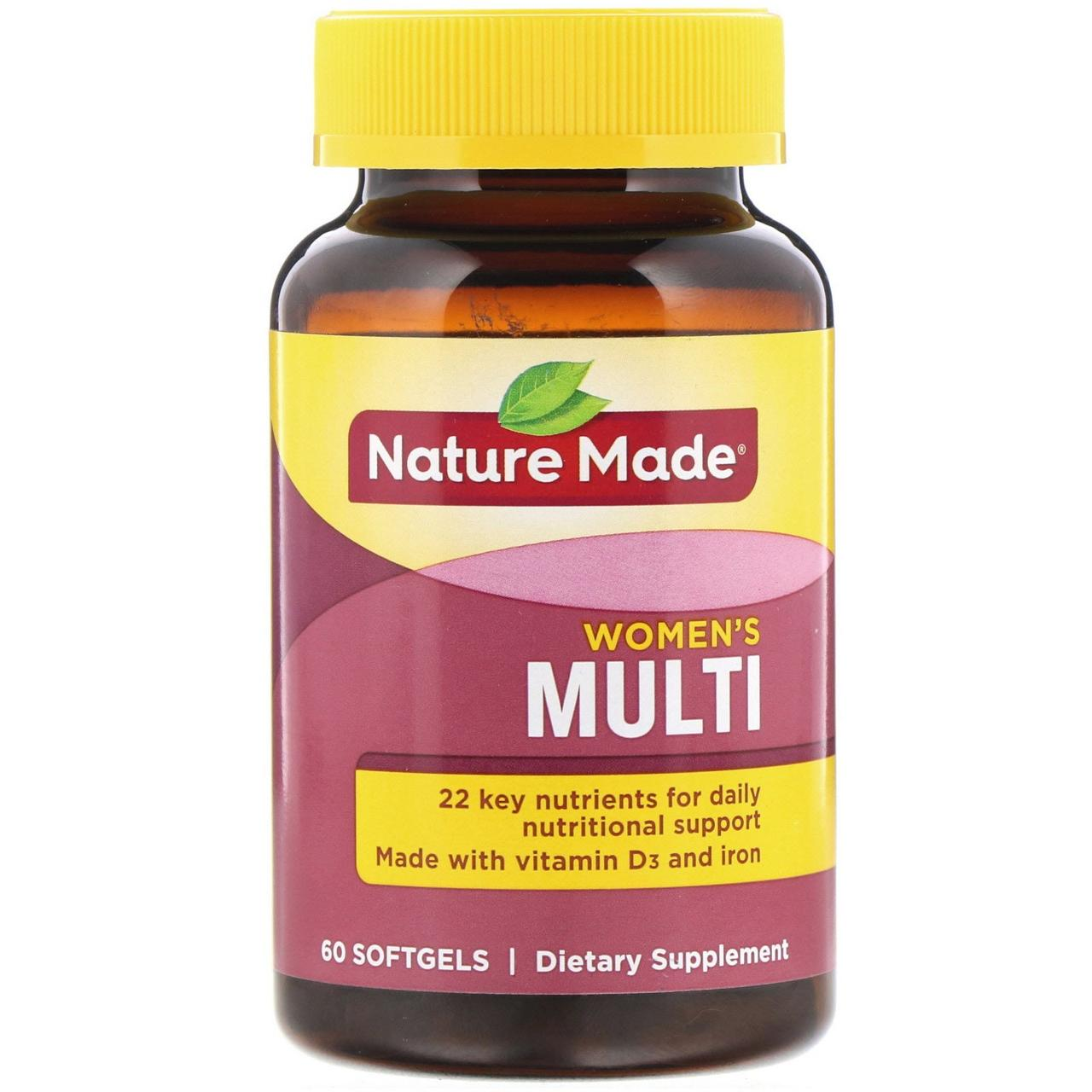 Вітаміни для жінок, Nature Made, 60 капсул