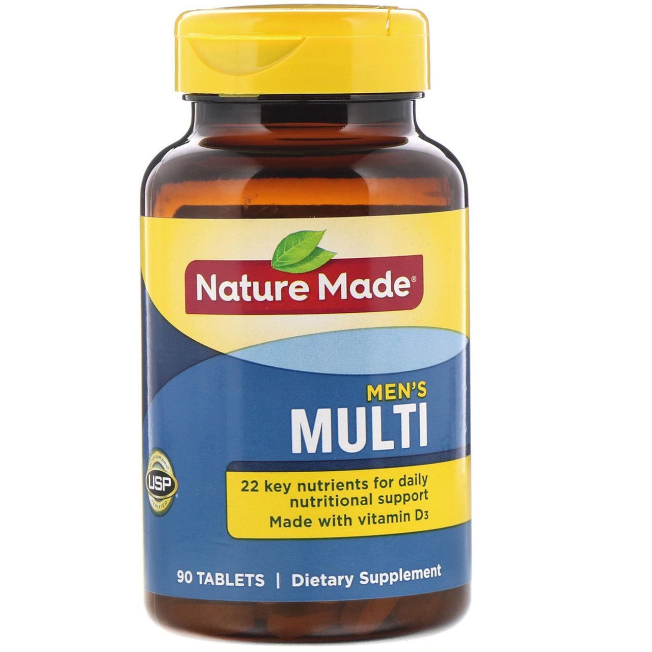 """Витаминый комплекс """"Для нього"""", Nature Made, 90 таблеток"""