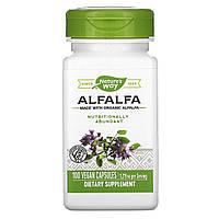 Альфальфа, Alfalfa Leaves, Nature's Way, 405 мг, 100 капсул