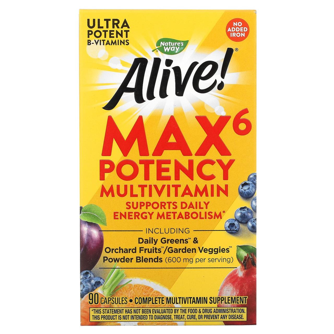 Мультивітаміни (Multi-Vitamin), nature's Way, без заліза, 90кап