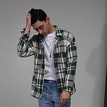 Куртка-рубашка мужская в клетку зеленая с белым Фьюри (Fury) от бренда ТУР размер S, M, L, XL, XXL