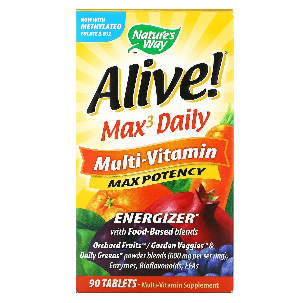 Мультивітаміни (Multi-Vitamin), nature's Way, 90 таблеток