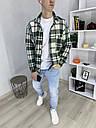 Куртка-рубашка мужская в клетку зеленая с белым Фьюри (Fury) от бренда ТУР размер S, M, L, XL, XXL, фото 6