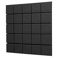 Акустичний поролон EchoFom Плитка 30 мм 50x50 см, чорний графіт