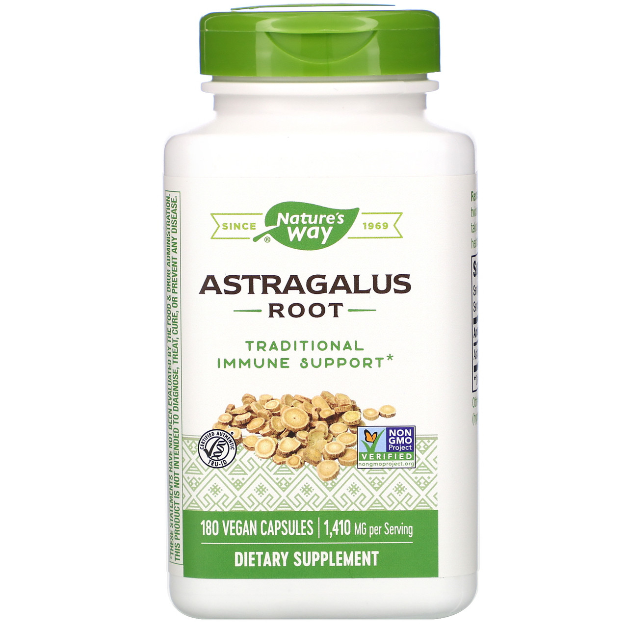 Астрагал, Astragalus Root, Nature's Way, 470 мг, 180 капсул