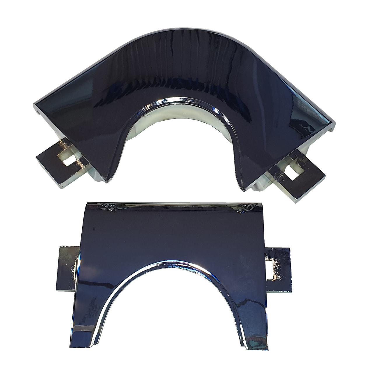 Лузы-накладки для пула серебряные (металлические уголки)