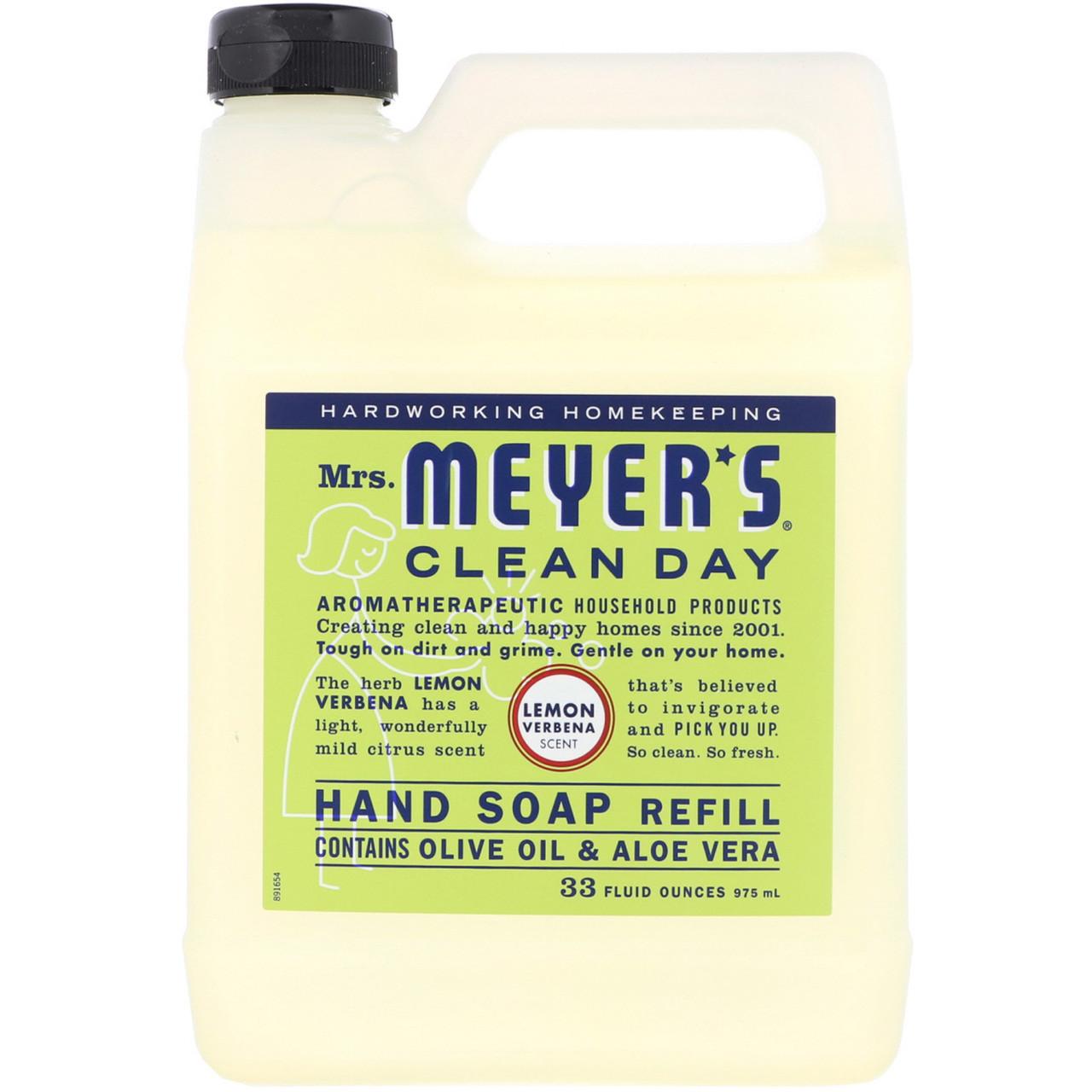Mrs. Meyers Clean Day, Жидкое мыло для рук, аромат вербены лимонной, 33 жидких унции (975 мл)