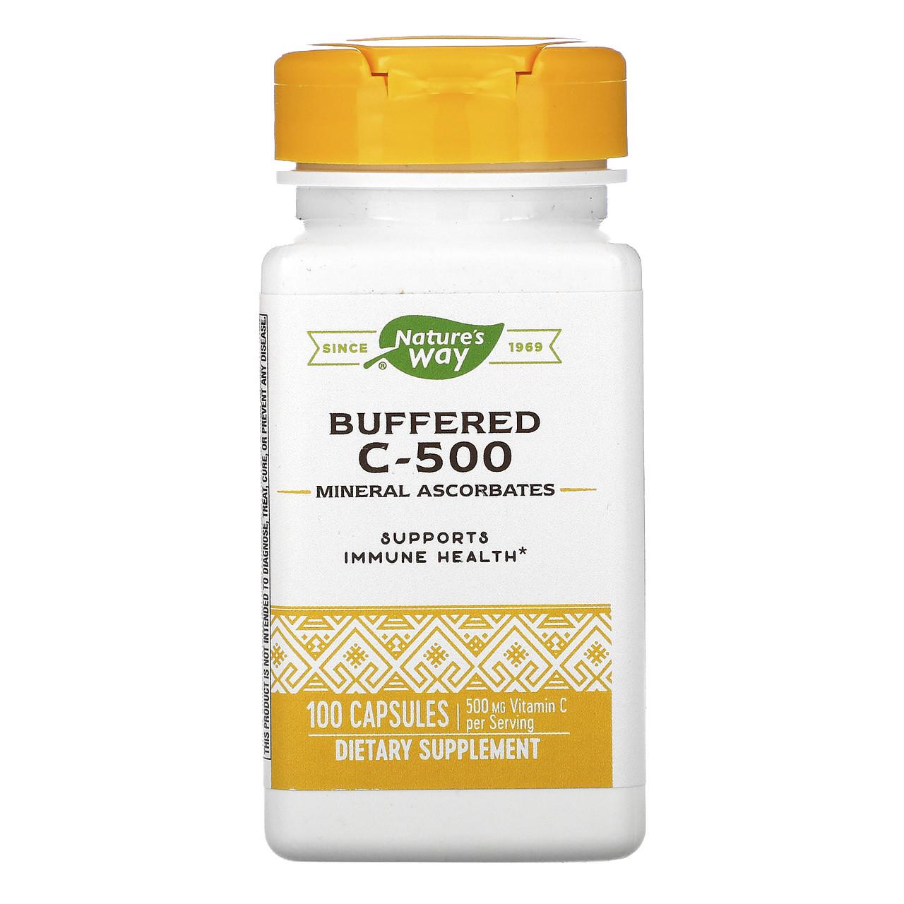 Витамин С-500 буферизированный, Nature's Way, 100 кап.