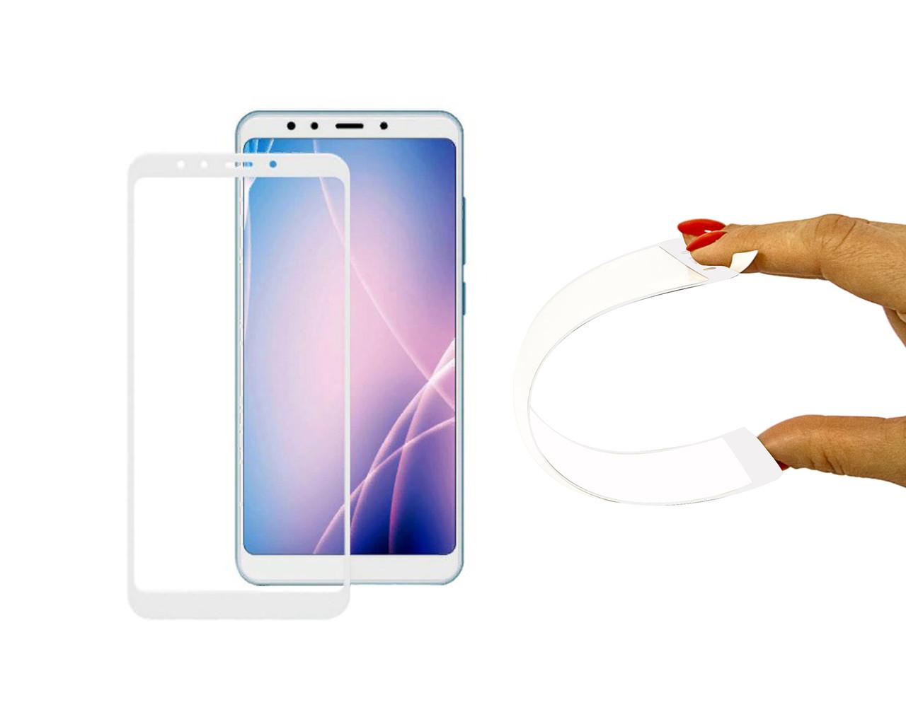 Захисне 5D скло Nano Flexible GLASS ITOP для Xiaomi Redmi 5 Plus Full Cover Білий