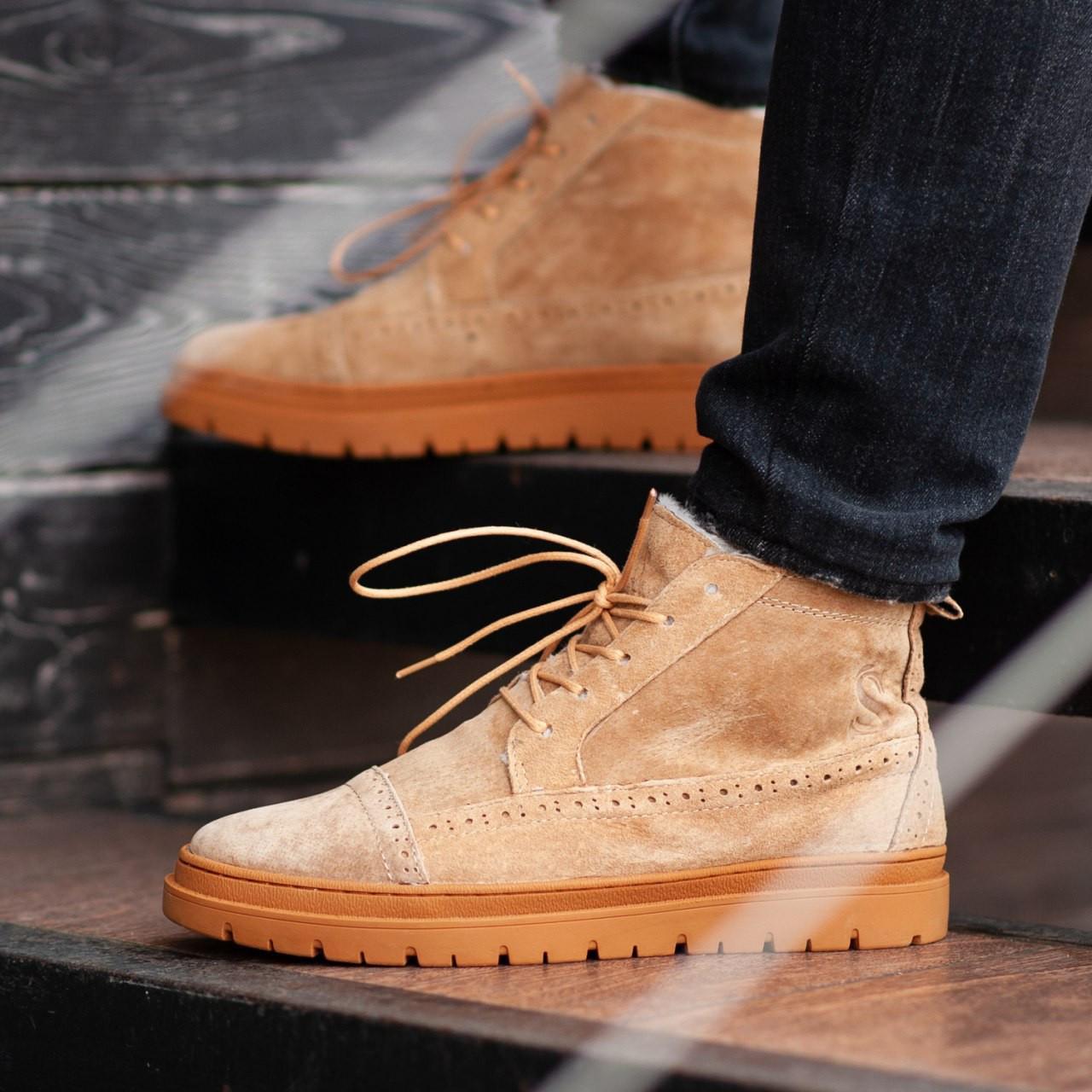 Чоловічі Зимові коричневі черевики South Mist