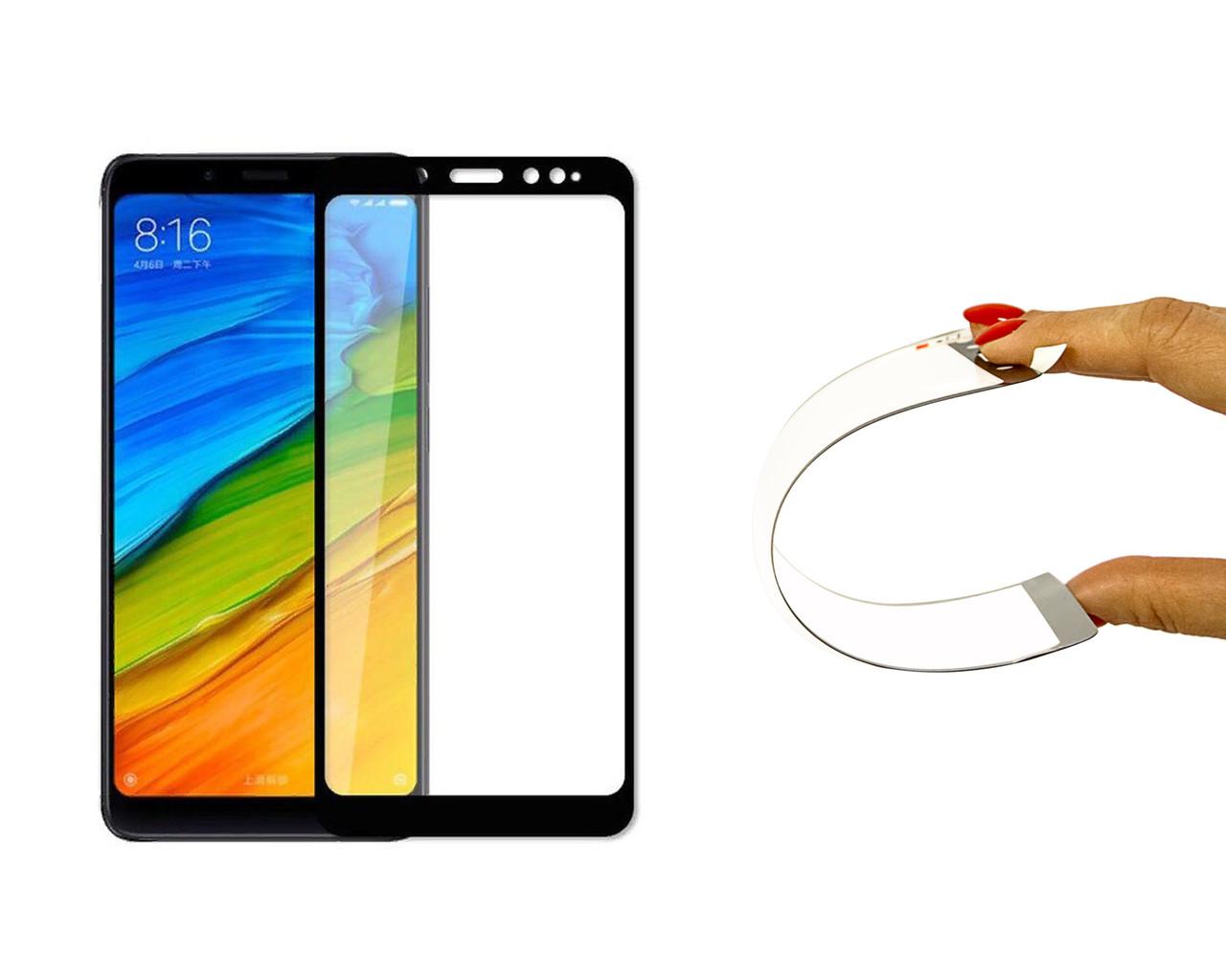 Защитное 5D cтекло Nano Flexible GLASS ITOP для Xiaomi Redmi Note 5 Pro Full Cover Черный