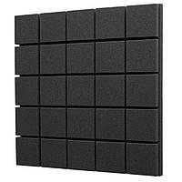 Акустичний поролон EchoFom Плитка 50 мм 50x50 см, чорний графіт