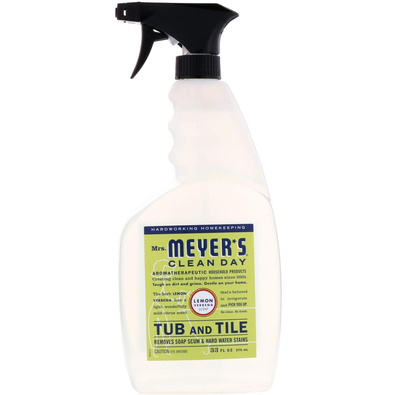 Чистящее средство для ванной комнаты, Tub and Tile, Mrs. Meyers Clean Day, 976 мл