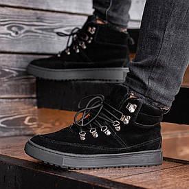 Мужские Зимние черные ботинки South Snake