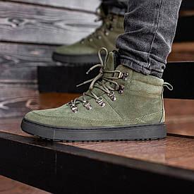Мужские Зимние зеленые ботинки South Snake