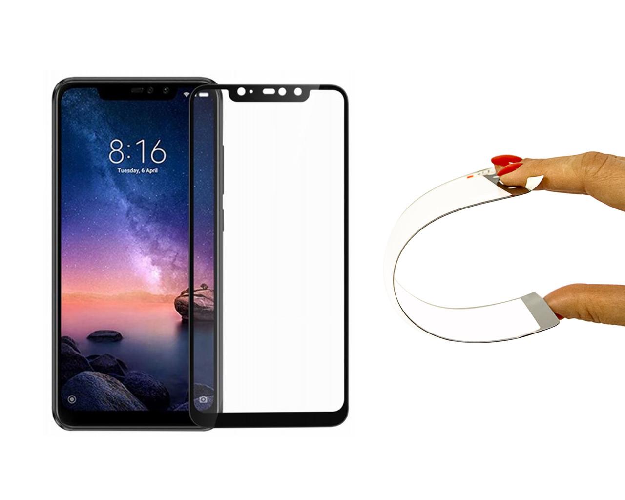 Захисне 5D скло Nano Flexible GLASS ITOP для Xiaomi Redmi Note 6 Pro Full Cover Чорний