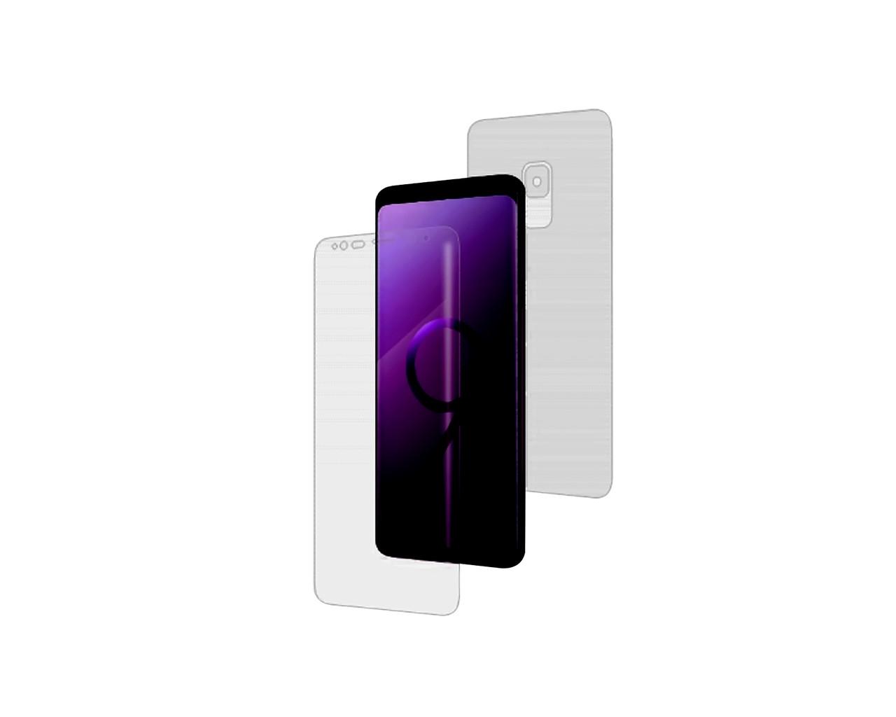 Защитная пленка 2 стороны - лицевая и обратная SO EASY ITOP 360 для Samsung Galaxy S9 Full Cover