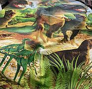 """Двоспальний комплект (Ранфорс)   Постільна білизна від виробника """"Королева Ночі""""   Динозаври, Юрський період, фото 3"""