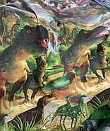 """Двоспальний комплект (Ранфорс)   Постільна білизна від виробника """"Королева Ночі""""   Динозаври, Юрський період, фото 4"""
