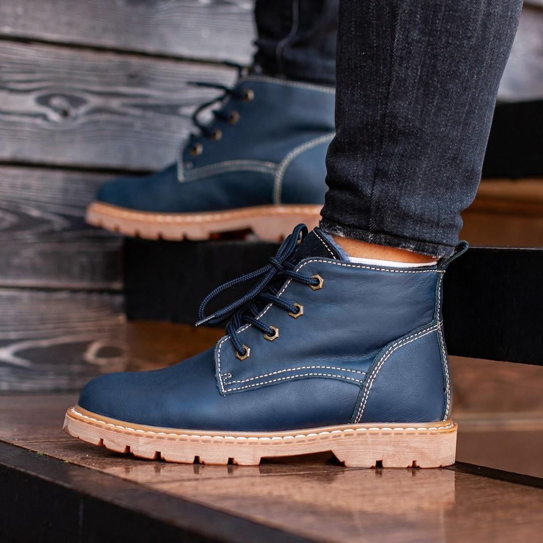 Мужские Зимние синие ботинки South jaston