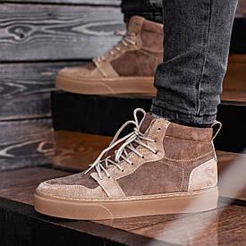 Мужские Зимние коричневые ботинки South Ferro