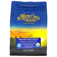 Mt. Whitney Coffee Roasters, Органический перуанский напиток без кофеина, цельные зерна, 12 унций (340 г)