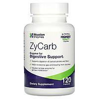 Houston Enzymes, ZyCarb, мультиэнзимы, 120 капсул