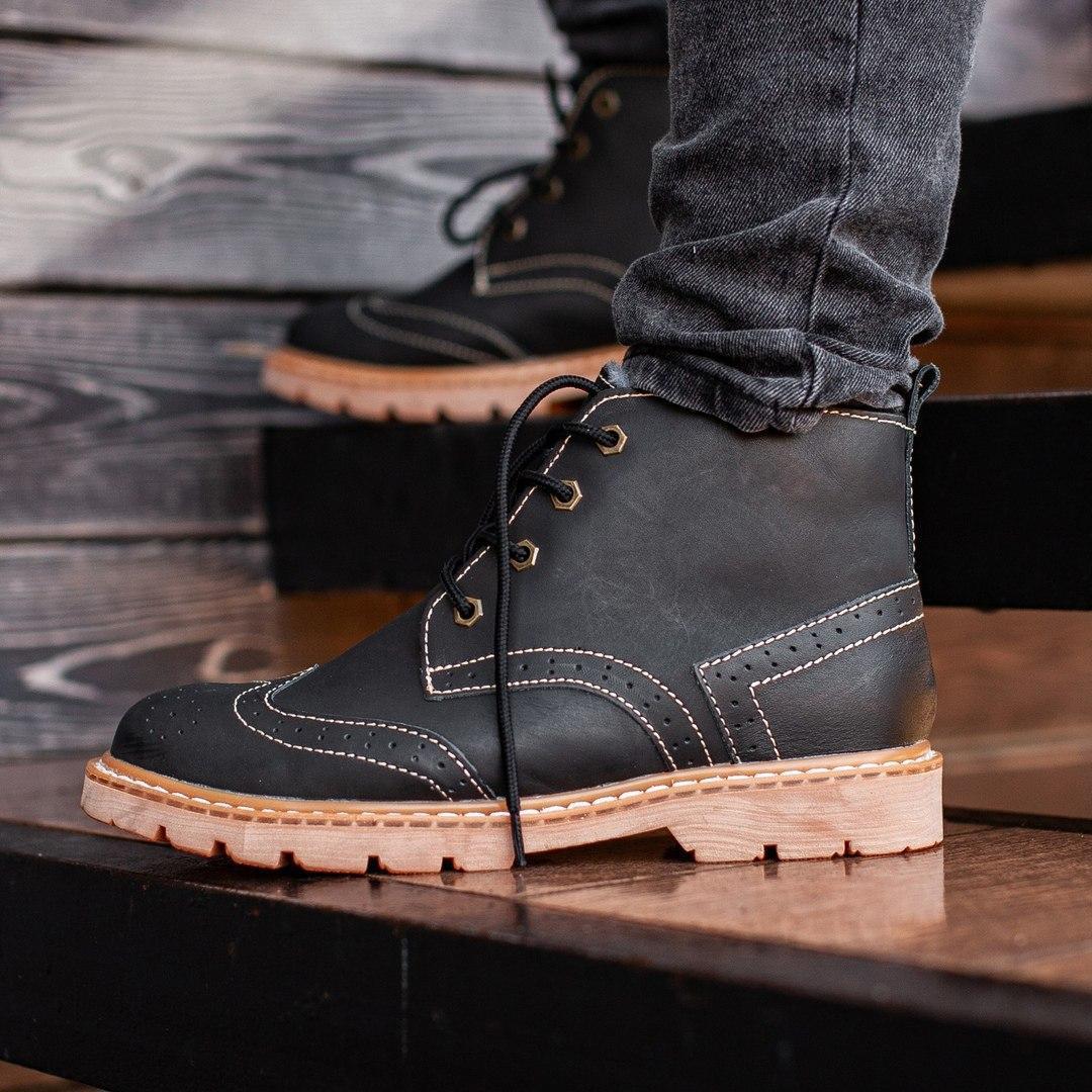 Мужские Зимние черные ботинки South Rebel
