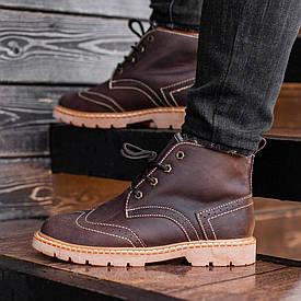Мужские Зимние коричневые ботинки South Rebel