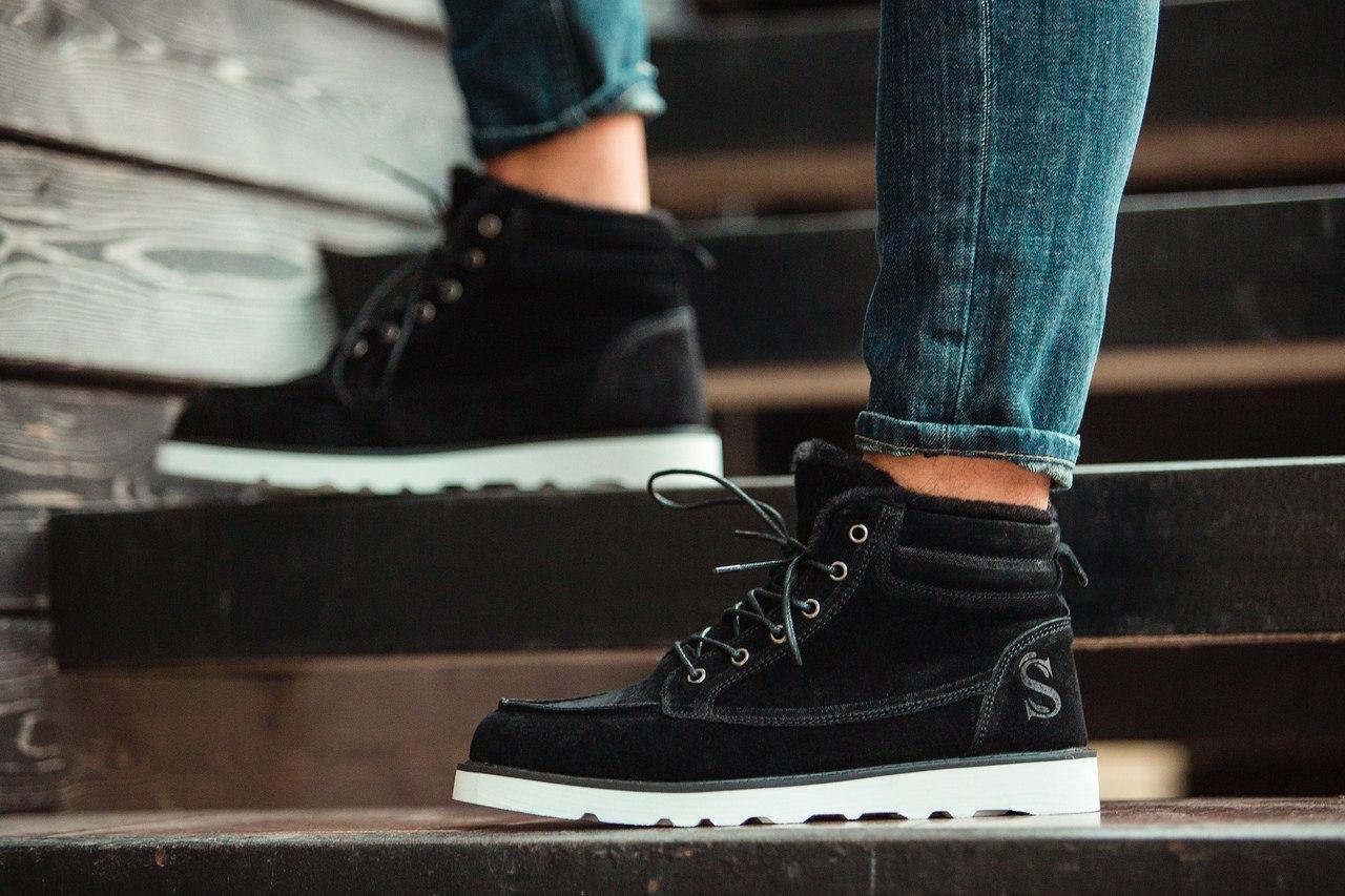 Чоловічі Зимові чорні черевики South indigo