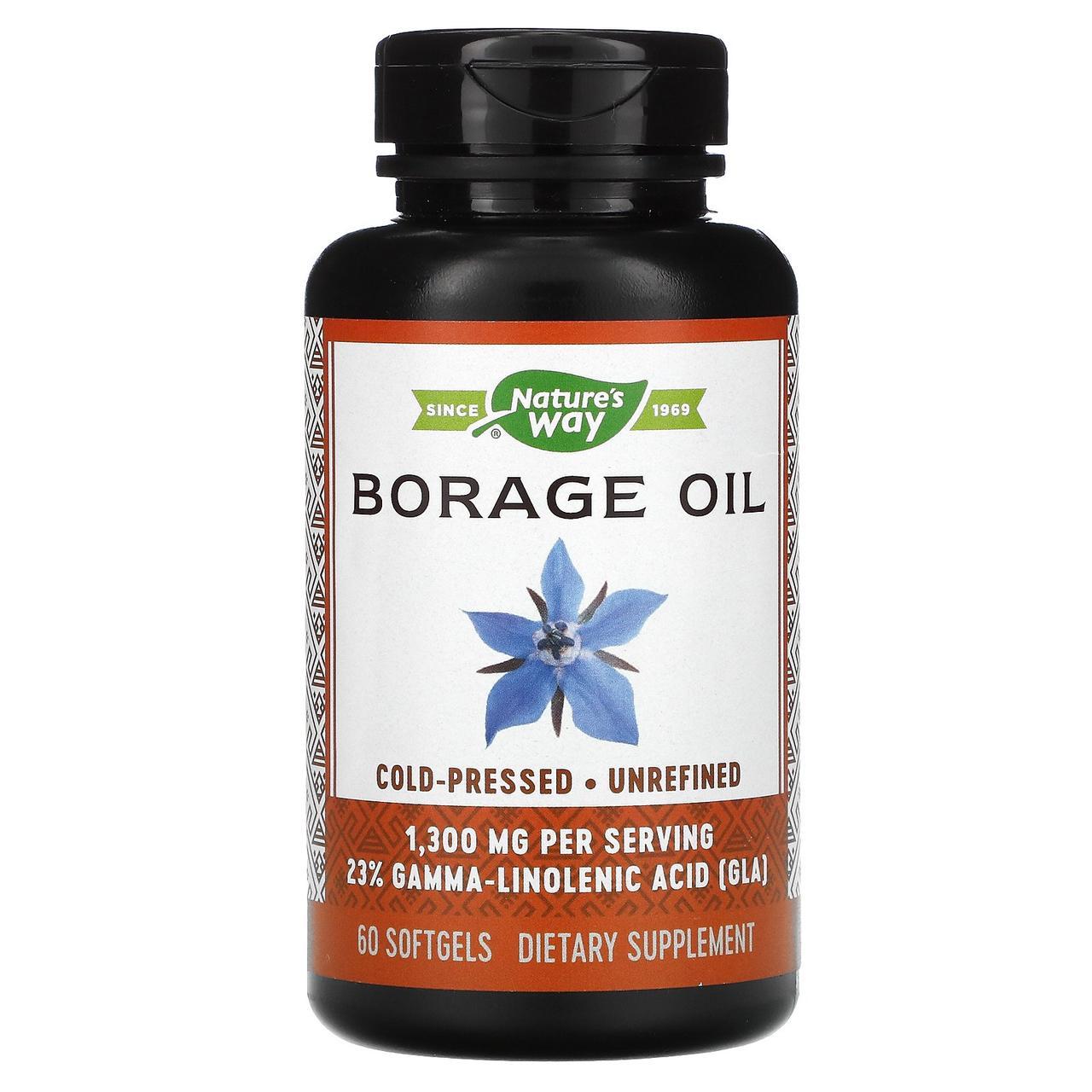 Масло огуречника (EFAGold, Borage), Nature's Way, 1300 мг, 60 кап.