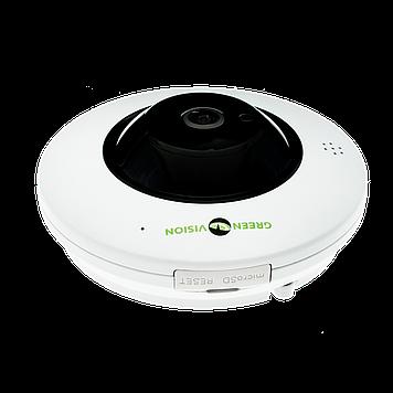 Купольная IP камера GreenVision GV-076-IP-ME-DIS40-20 (360) POE