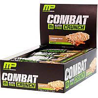 Білкові бари, (Combat Crunch), кориця, Muscle Pharm, 12 шт по 63 г, фото 1