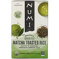 Numi Tea, Органічний зелений чай, підсмажений рис, 18 пакетиків, 1,65 унції (46,8 г) кожна, фото 1
