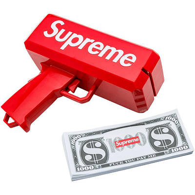 Пистолет для стрельбы деньгами Supreme money gun Красный (up020)